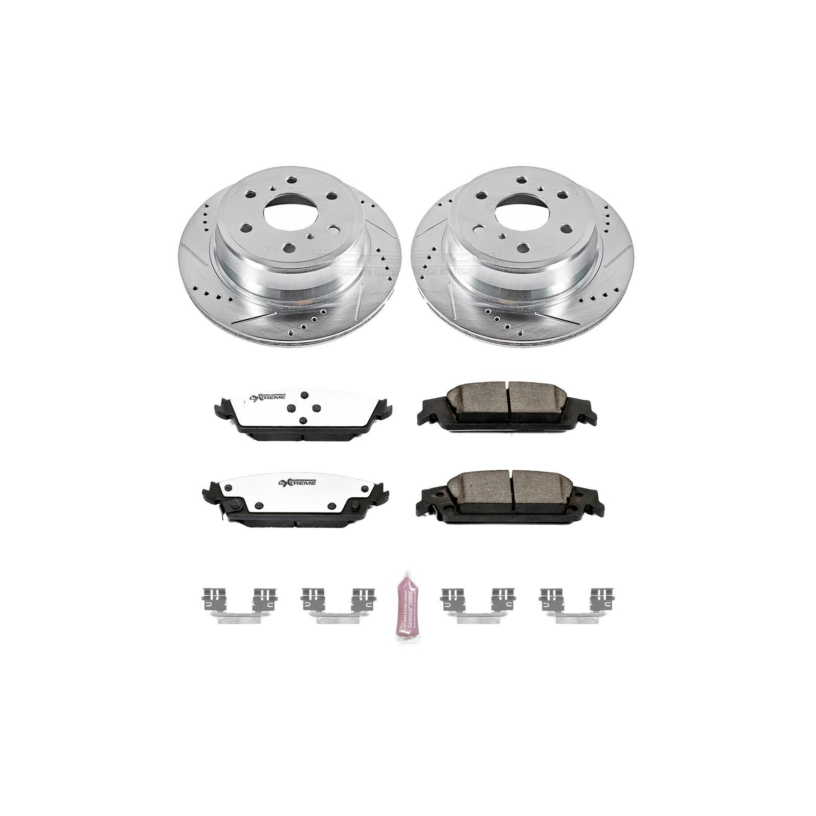 E-Coated OE Rotors + Metallic Pads Max Brakes Rear Elite Brake Kit TA071402 Fits: 2008 08 2009 09 2010 10 2011 11 Dodge Grand Caravan