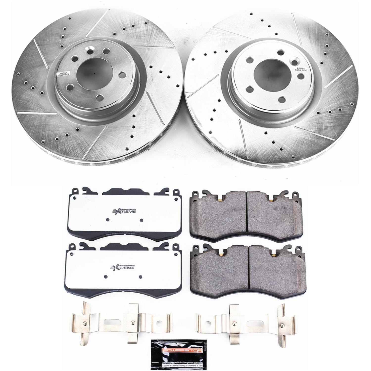 No Hardware Included For Brake Pads Front Disc Brake Rotors and Ceramic Brake Pads for 2001 Dodge Ram 3500 With Two Years Manufacturer Warranty