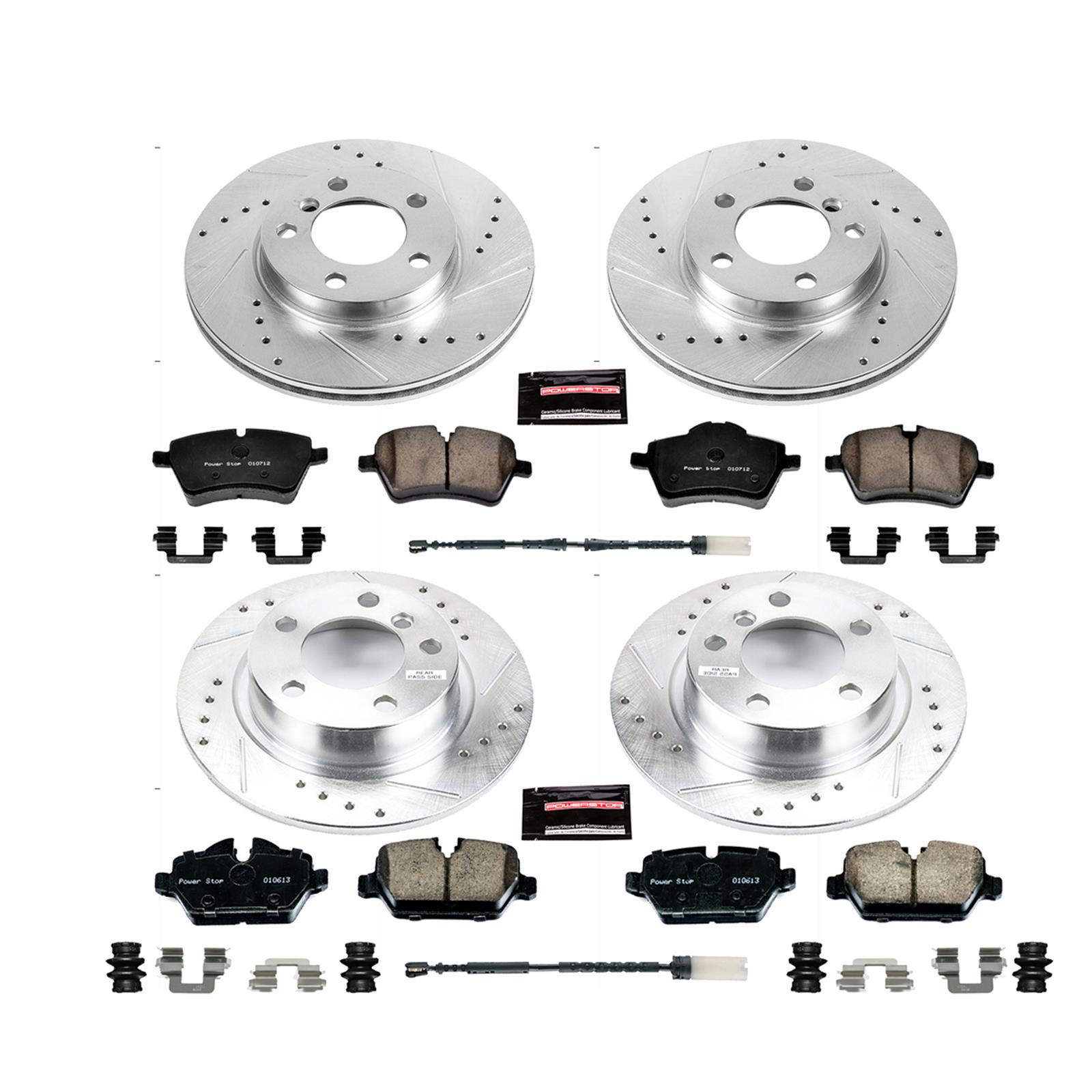 Power Stop K6666 Front and Rear Z23 Evolution Kit with Drilled//Slotted Rotors and Ceramic Brake Pads