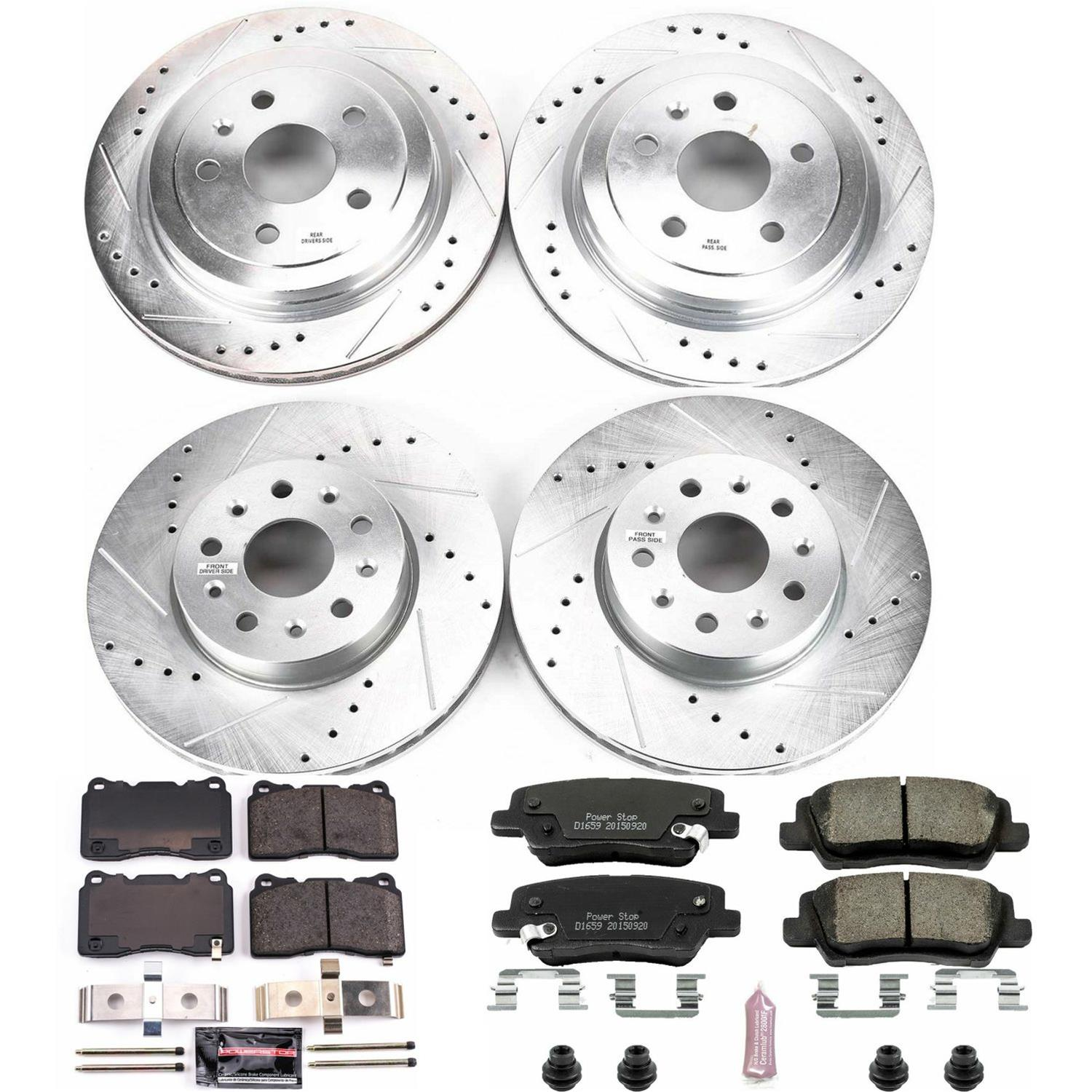 Slotted StopTech 977.42033R Sport Axle Pack Rear