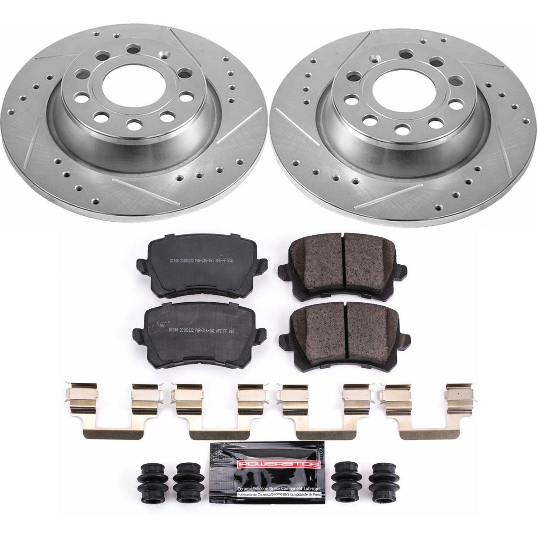 Disc Brake Pad and Rotor Kit-Z23 EvolutionSport Brake Upgrade Kit Power Stop