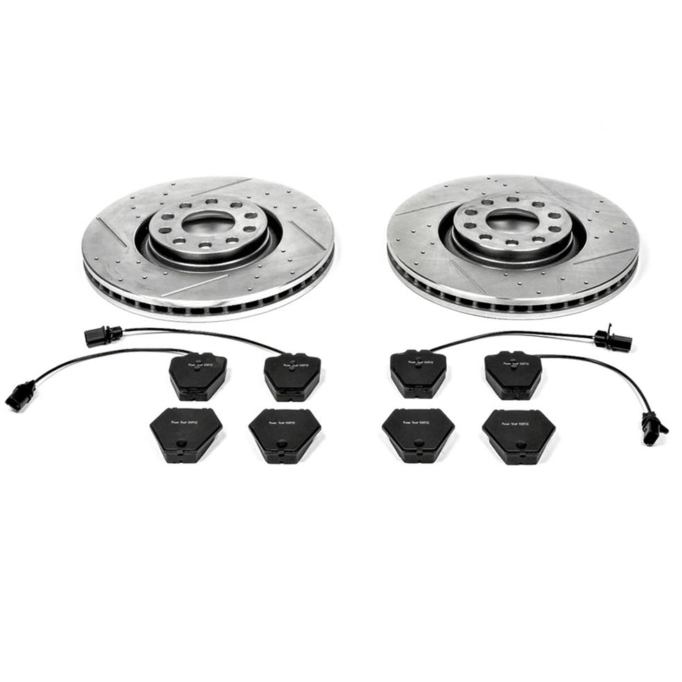 Front Stoptech 938.42019 Street Axle Pack Drilled /& Slotted