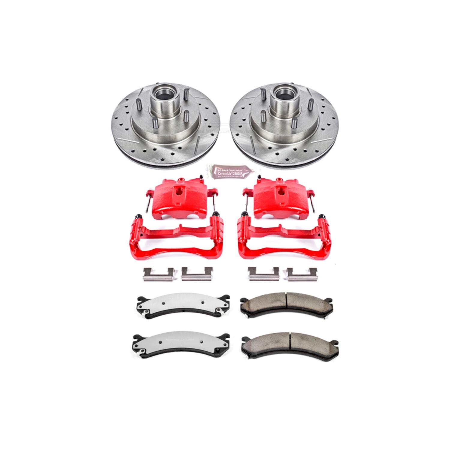 Power Stop KC2071 1-Click Performance Brake Kit with Calipers Front Only