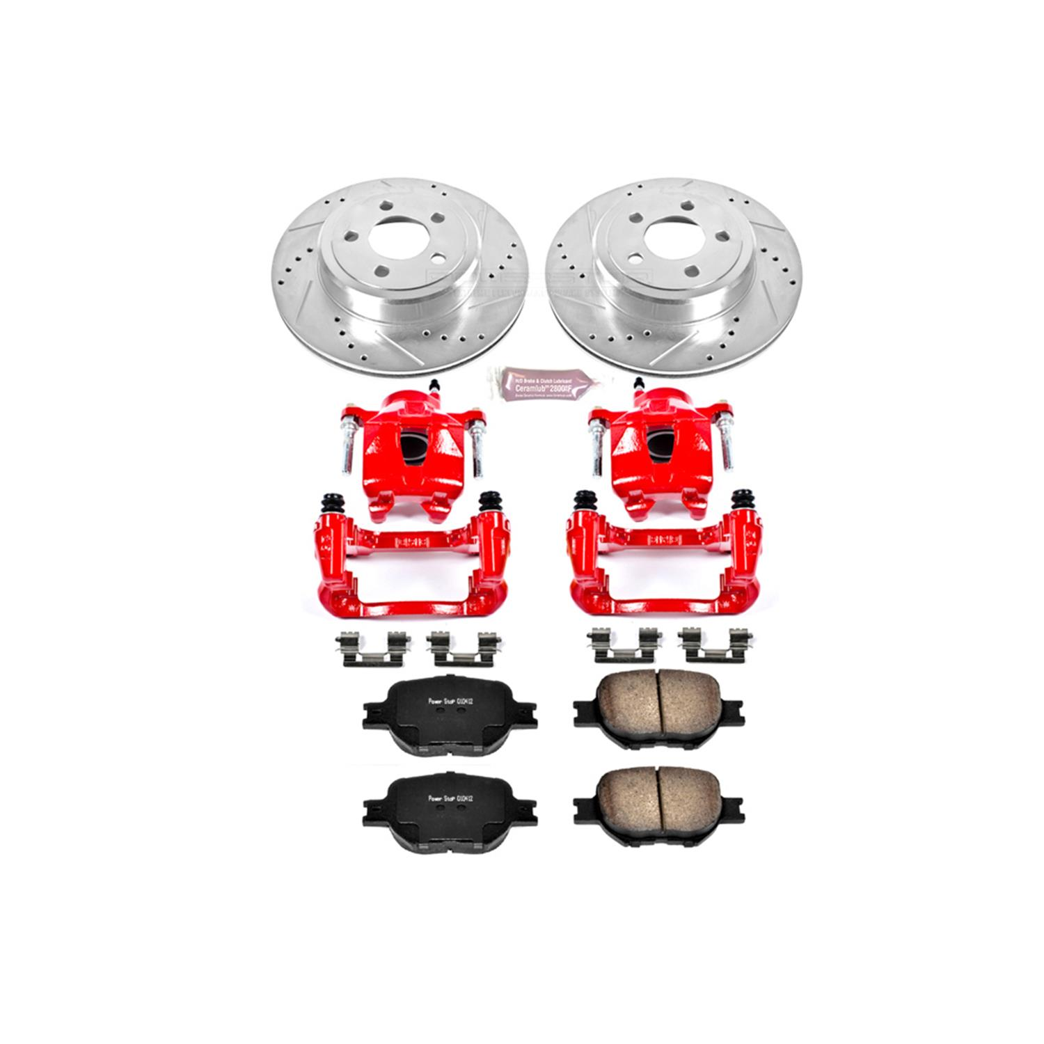 Power Stop KC2936 1-Click Performance Brake Kit with Calipers Front Only
