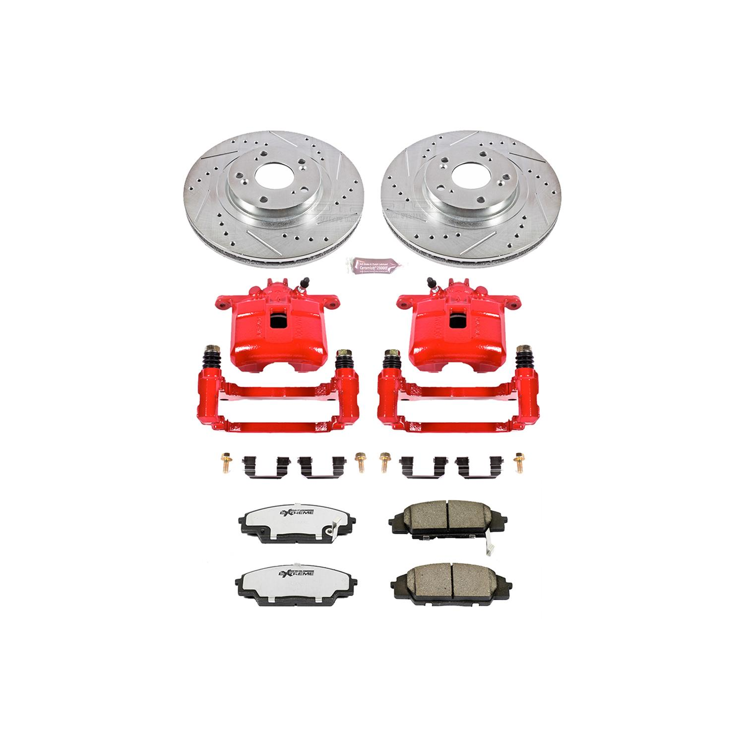 Power Stop KC2439 1-Click Performance Brake Kit with Caliper Front Only