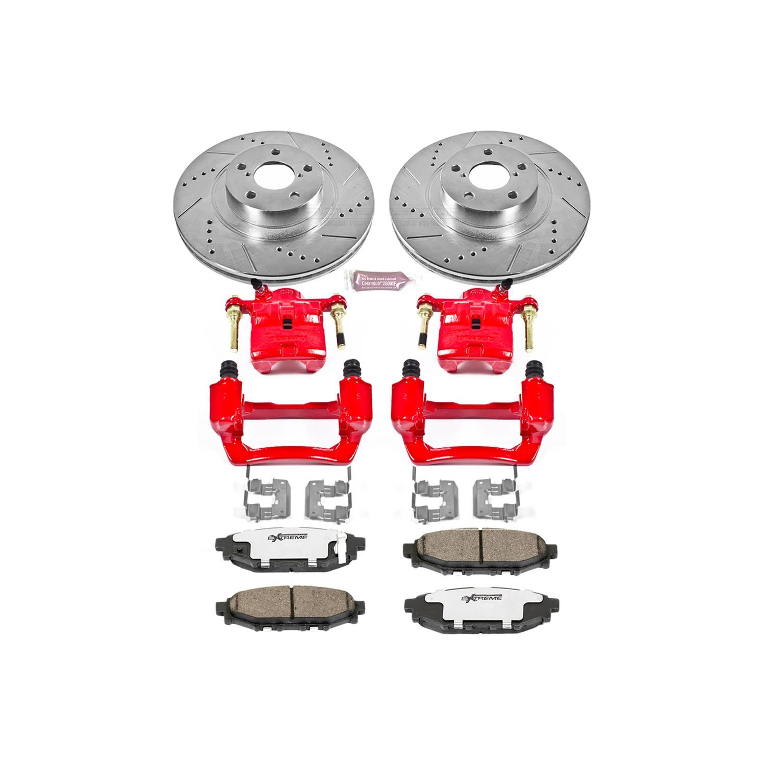 Rear Only Power Stop KC4631 1-Click Performance Brake Kit with Caliper