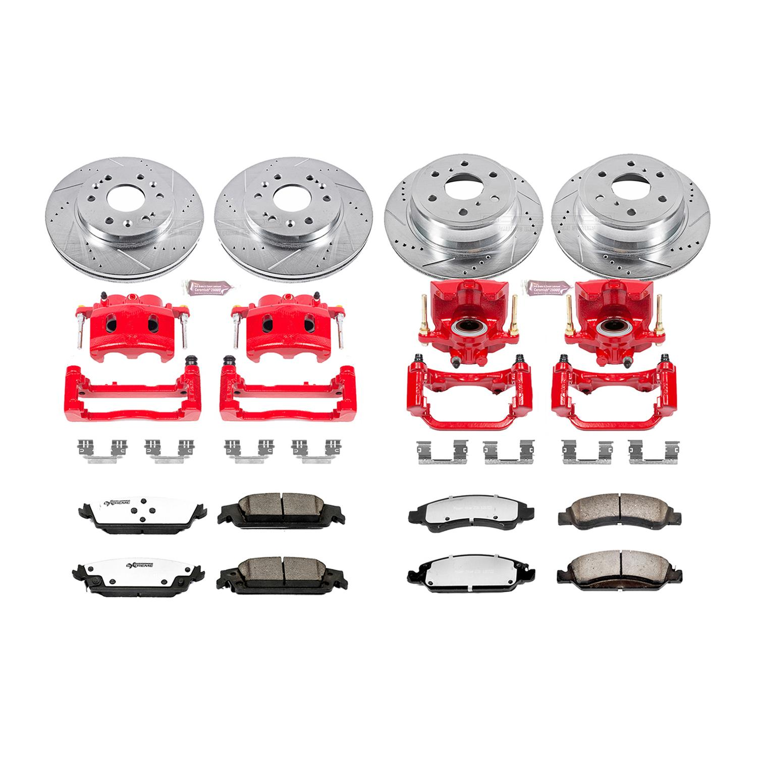 Power Stop KC6562-36 Rear Z36 Truck and Tow Brake Kit with Calipers