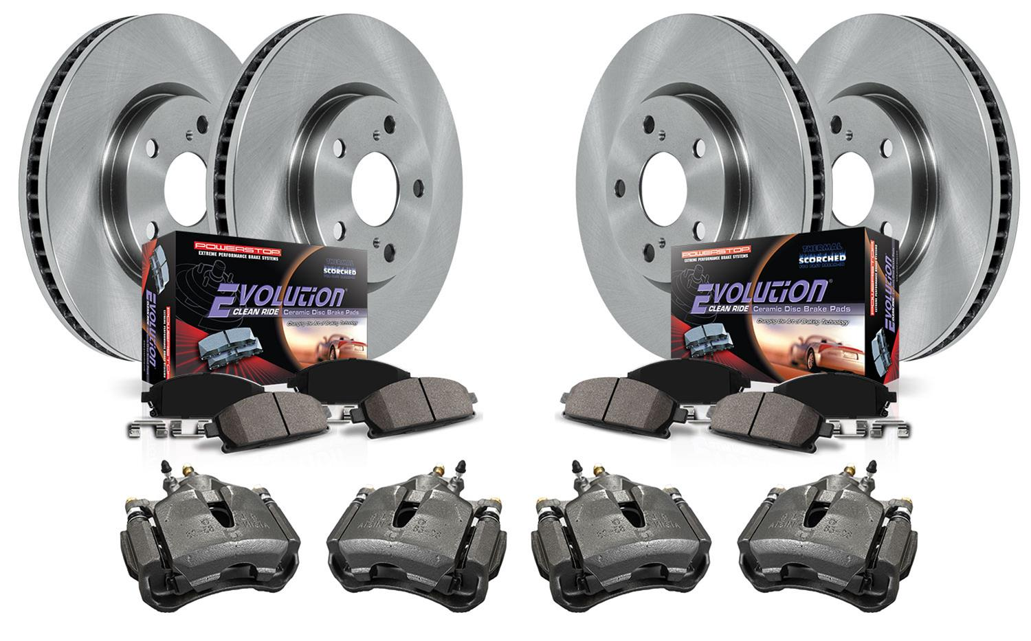 Front And Rear OE Brake Calipers /& Rotors /& Pads For 2000-2004 Toyota Avalon
