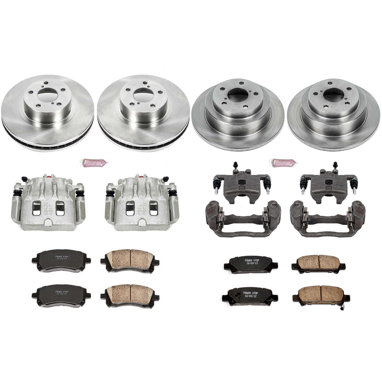 Brake Rotors Brakes Pads Kits,ECCPP 2pcs Front Discs Brake Rotors and 4pcs Ceramic Disc Brake Pads Set for 11 12 13 14 15 Toyota Tundra,16 Toyota Land Cruiser,08 09 10 11 12 13 14 15 16 Toyota Sequoia