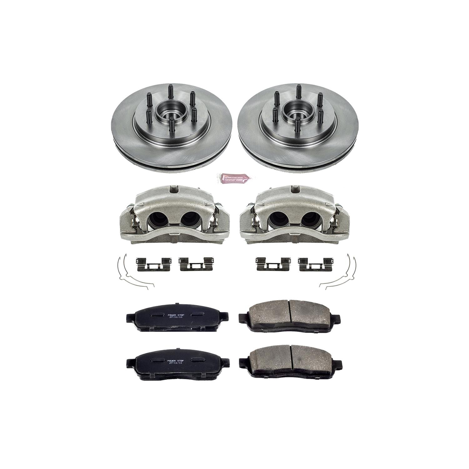 Power Stop KCOE6247 Front Stock Replacement Brake Kit with Calipers