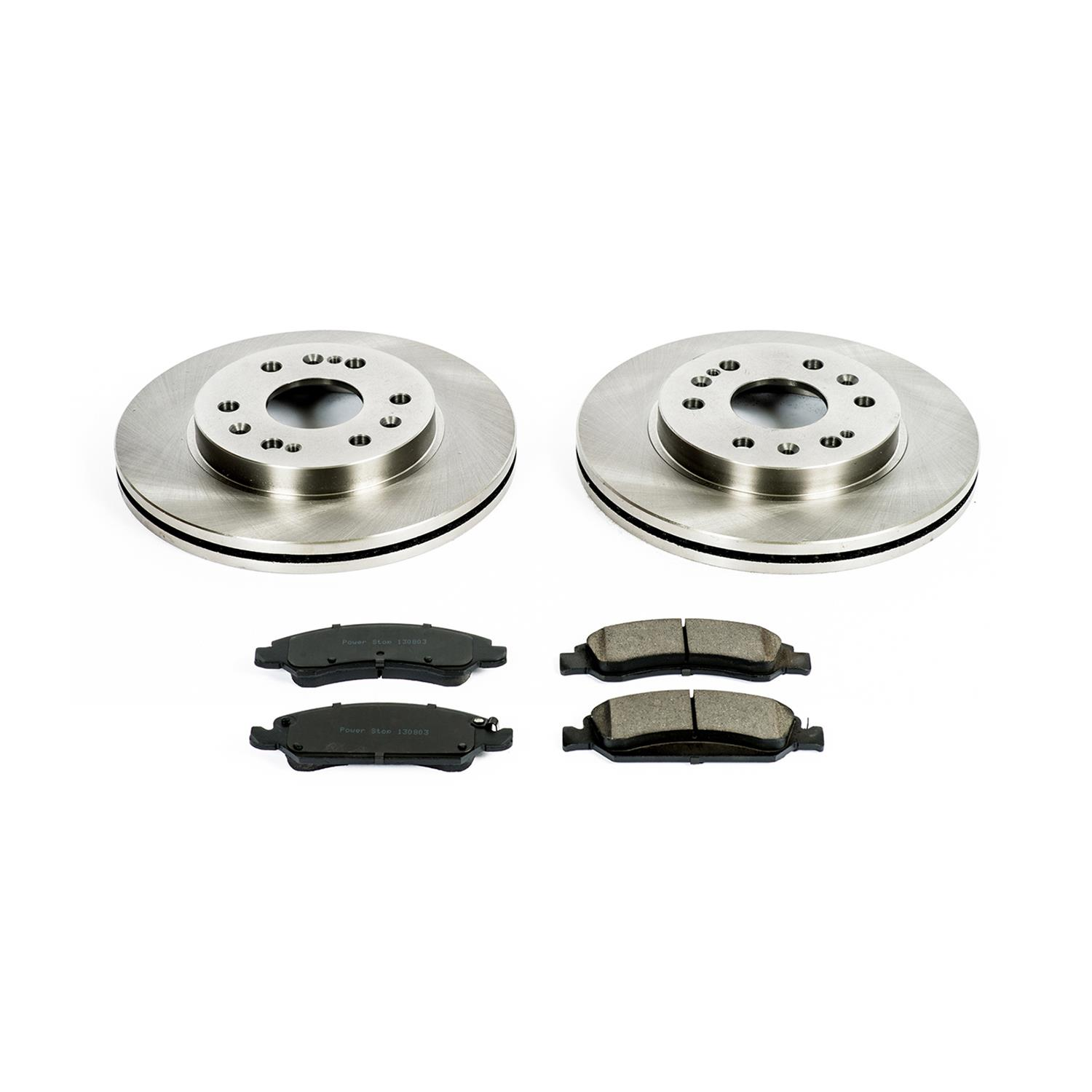 Powerstop Brake Disc and Pad Kits 4-Wheel Set Front /& Rear New for KOE2070