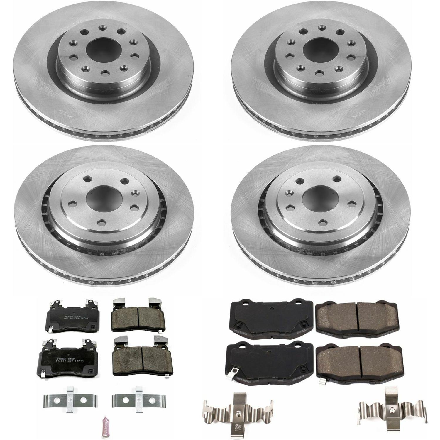 Power Stop KOE6291 Front and Rear Stock Replacement Brake Kit