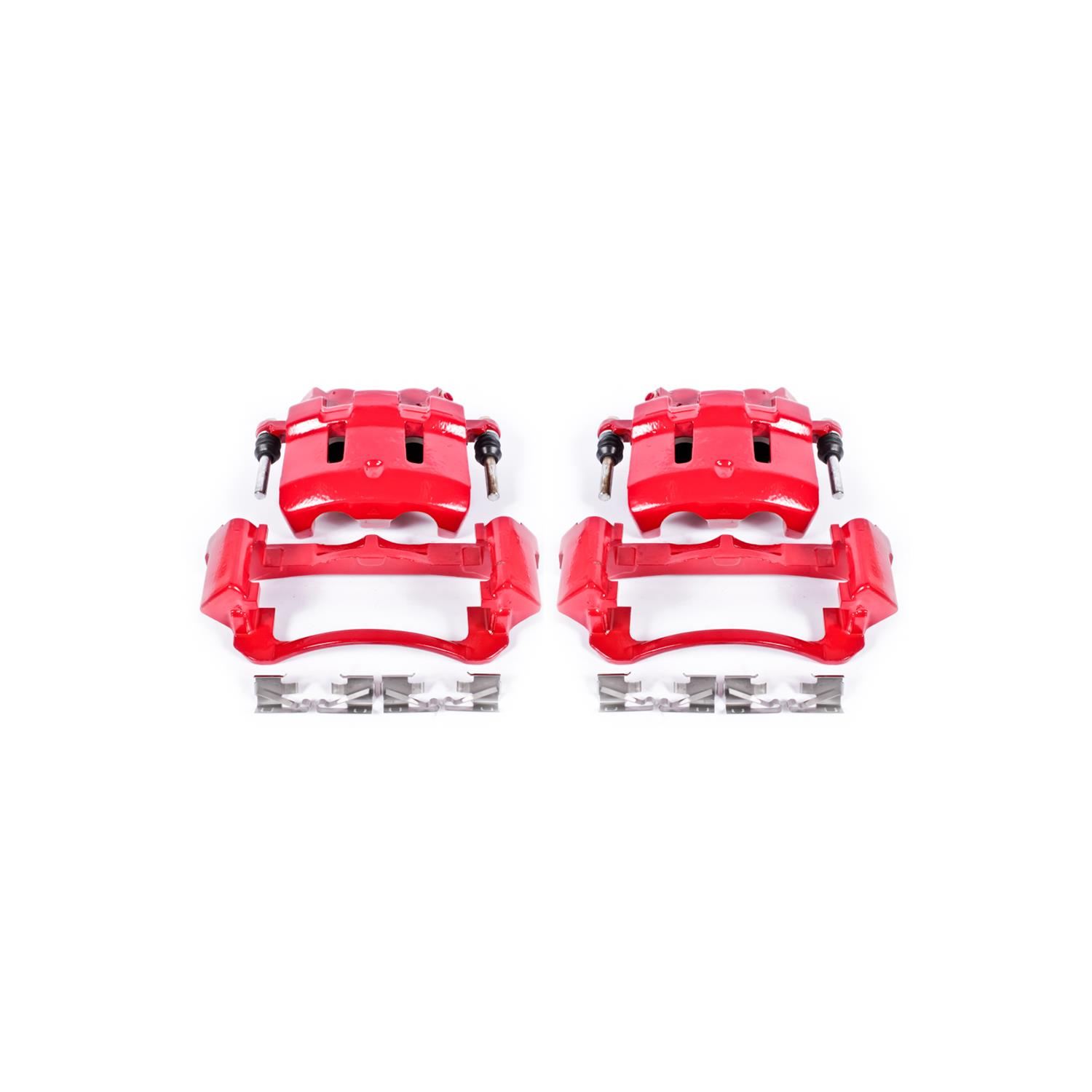 Powerstop S4790-Performance Brake Calipers Powder Coated Red-Front