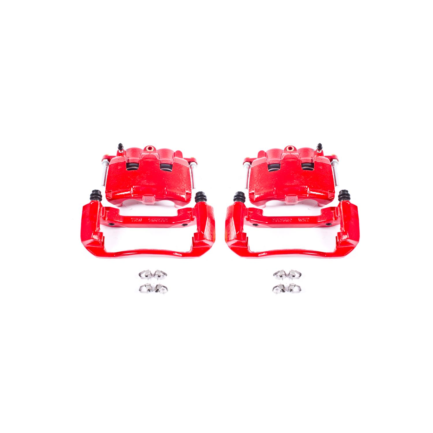 Power Stop S4890 Red Powder-Coated Performance Caliper