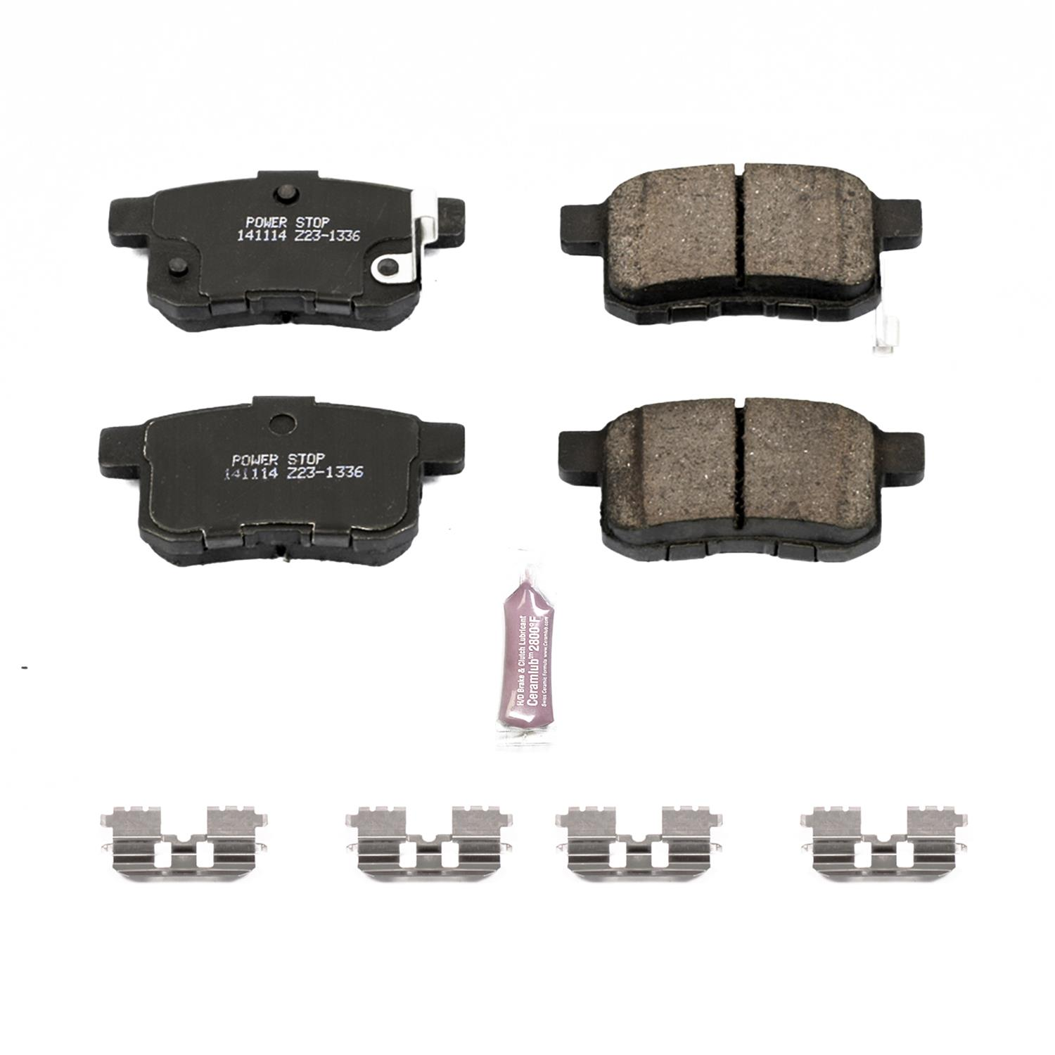 Power Stop Z23 Evolution Sport Carbon Fiber Infused Ceramic Brake Pads Z23- 1336 - Free Shipping on Orders Over $99 at Summit Racing