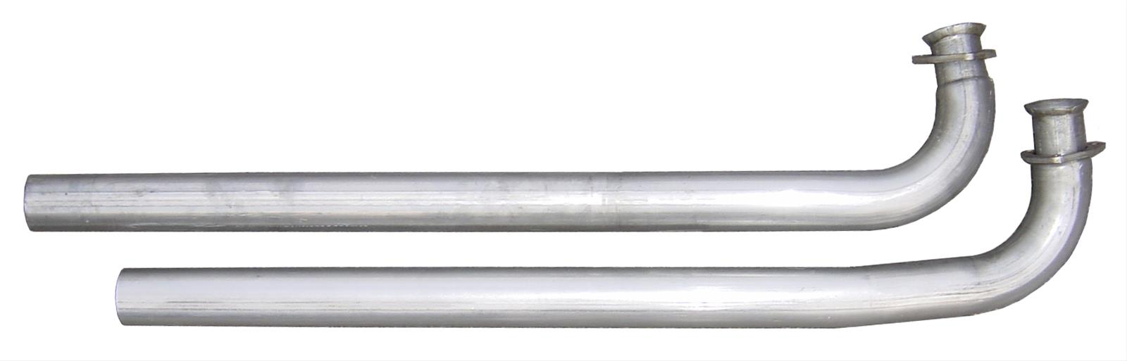 "Pypes Exhaust Downpipes Stainless Steel Natural 2.5/"" Dia Oldsmobile 442 Pair"