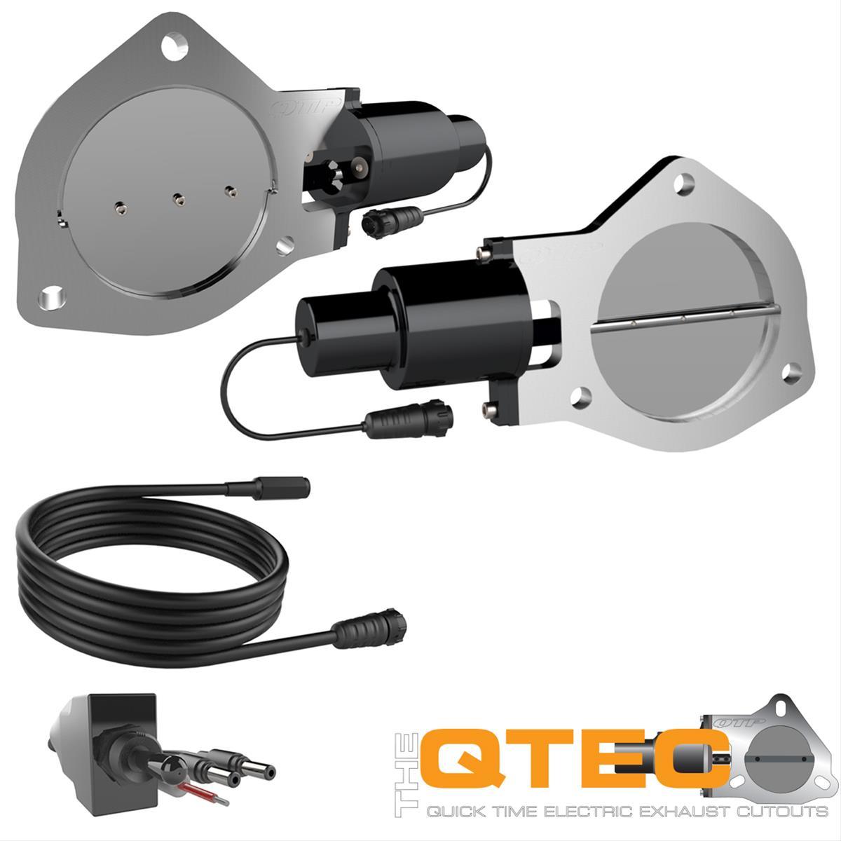 "QTP Quick Time Performance 4/"" Electric Exhaust Cutout w// Flange QTEC40F"