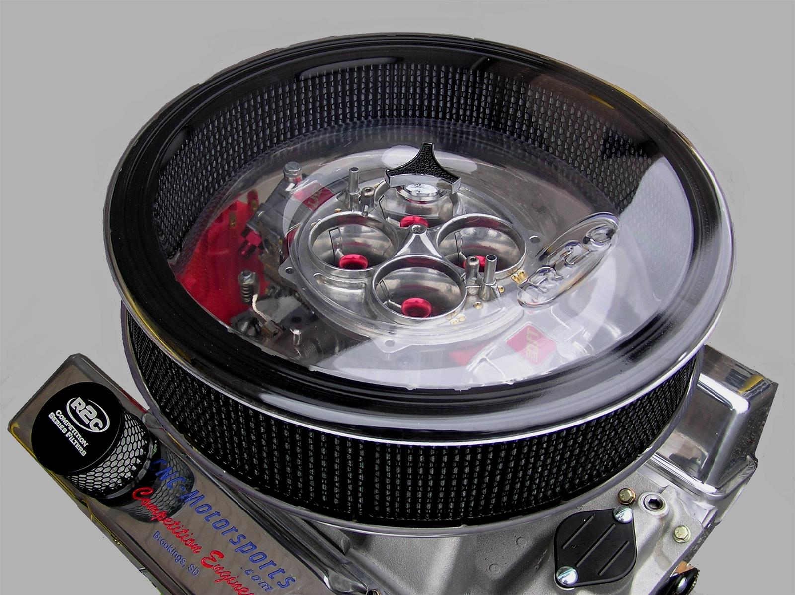 Custom Low Profile Air Cleaner : R c performance in round air cleaner base clear ebay
