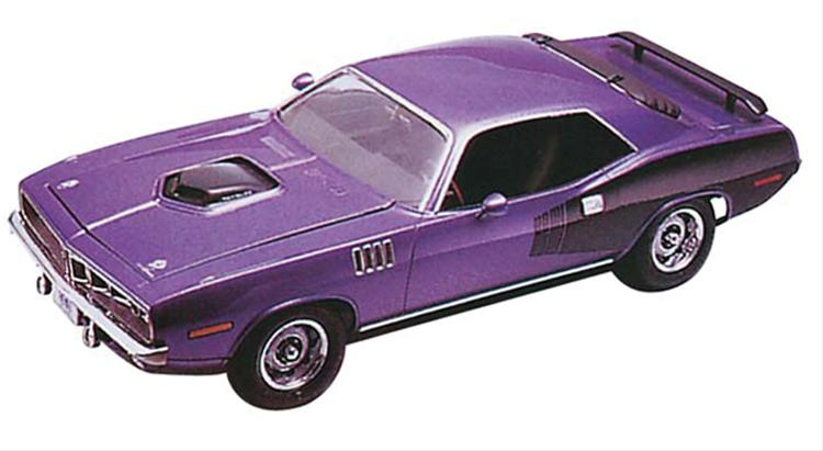 124 1971 Plymouth Hemi Cuda Hardtop Plastic Model Kit 85 2943