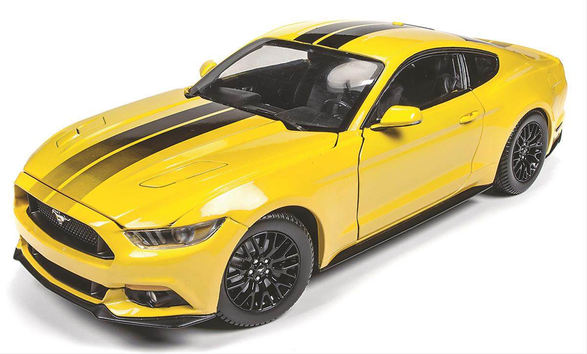 1 18 scale triple yellow 2016 ford mustang gt diecast. Black Bedroom Furniture Sets. Home Design Ideas