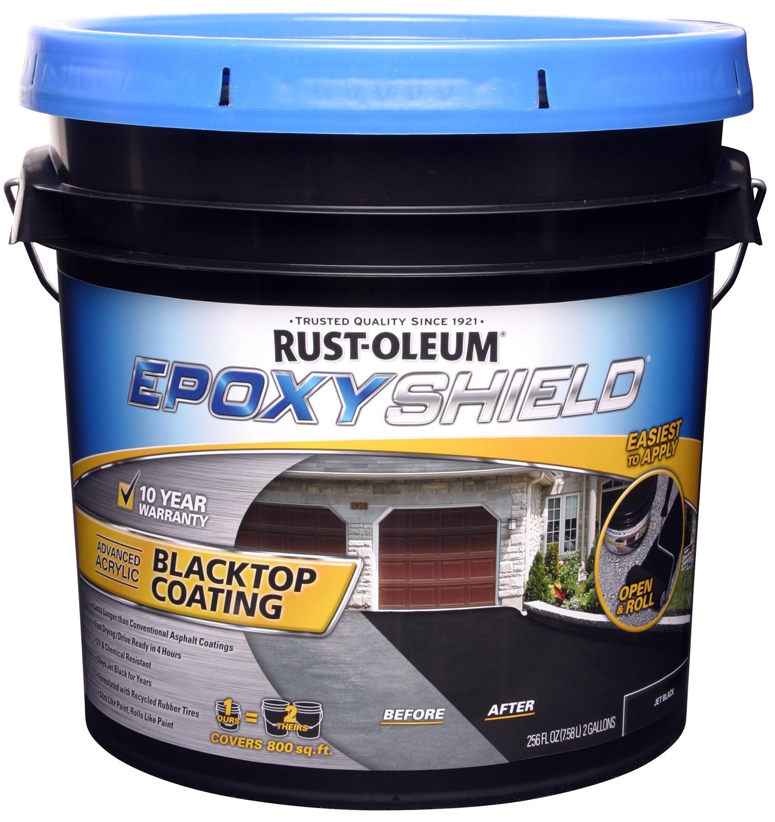 Rust Oleum Epoxy : Rust oleum epoxy shield blacktop coating free