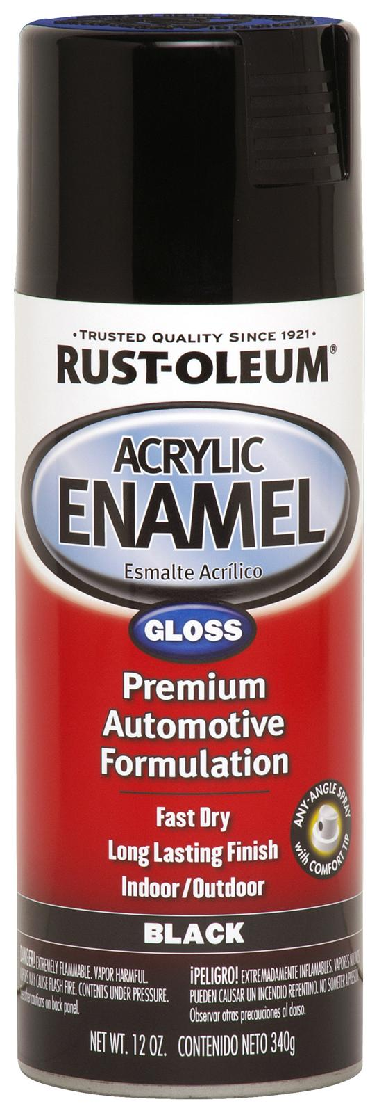 rust oleum paint acrylic enamel gloss black 12 oz aerosol ea 248643. Black Bedroom Furniture Sets. Home Design Ideas