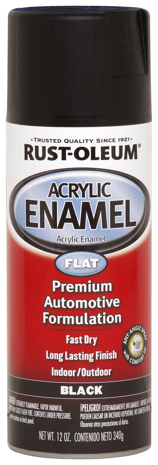 rust oleum paint acrylic enamel flat black aerosol 12 oz ea 248647. Black Bedroom Furniture Sets. Home Design Ideas