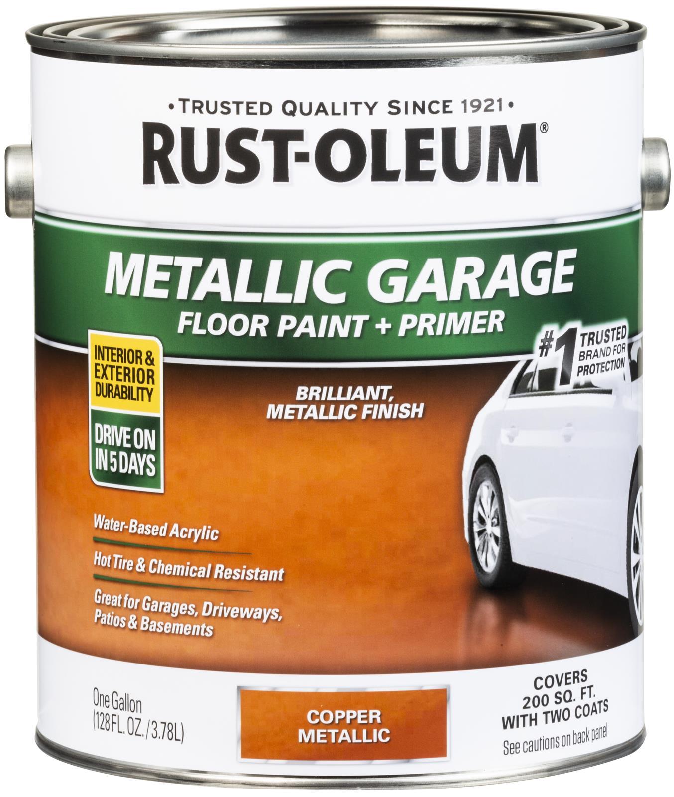 Rust Oleum Concrete And Garage Metallic Floor Paint 349355
