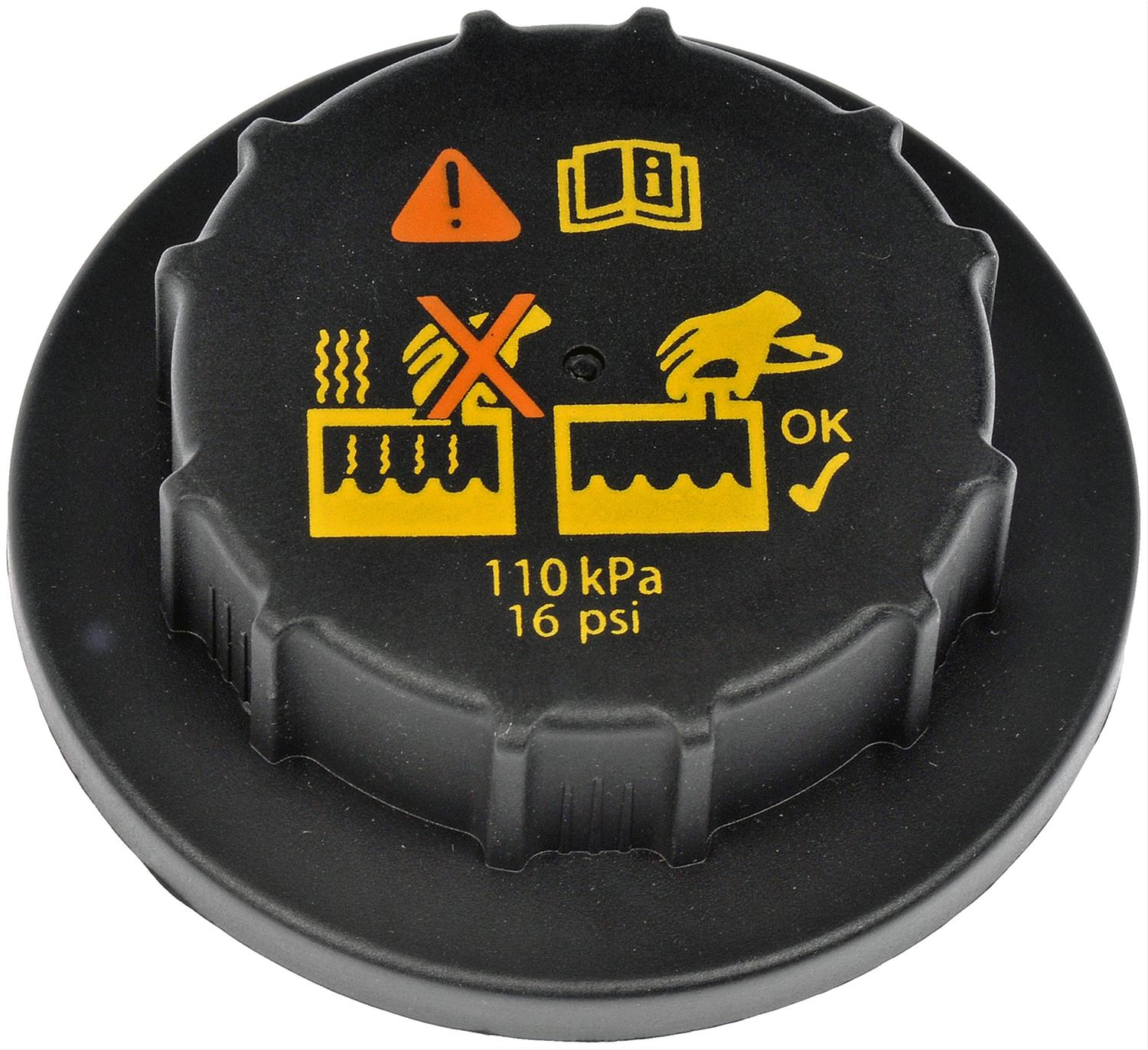 Stant Products 10238 Coolant Recovery Tank Cap Plastic Black 16 psi Each