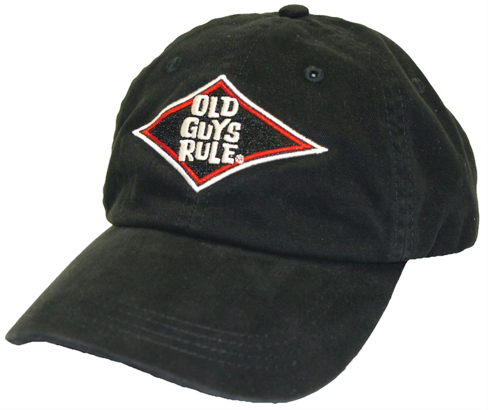 Old Guys Rule Diamond Logo Cap 309A715BLK - Free Shipping on Orders Over $99 at Summit Racing