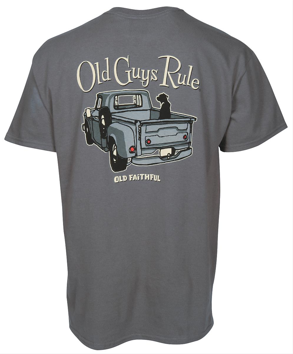 Old Guys Rule T Shirt Cotton Old Guys Rule Old Truck Dog
