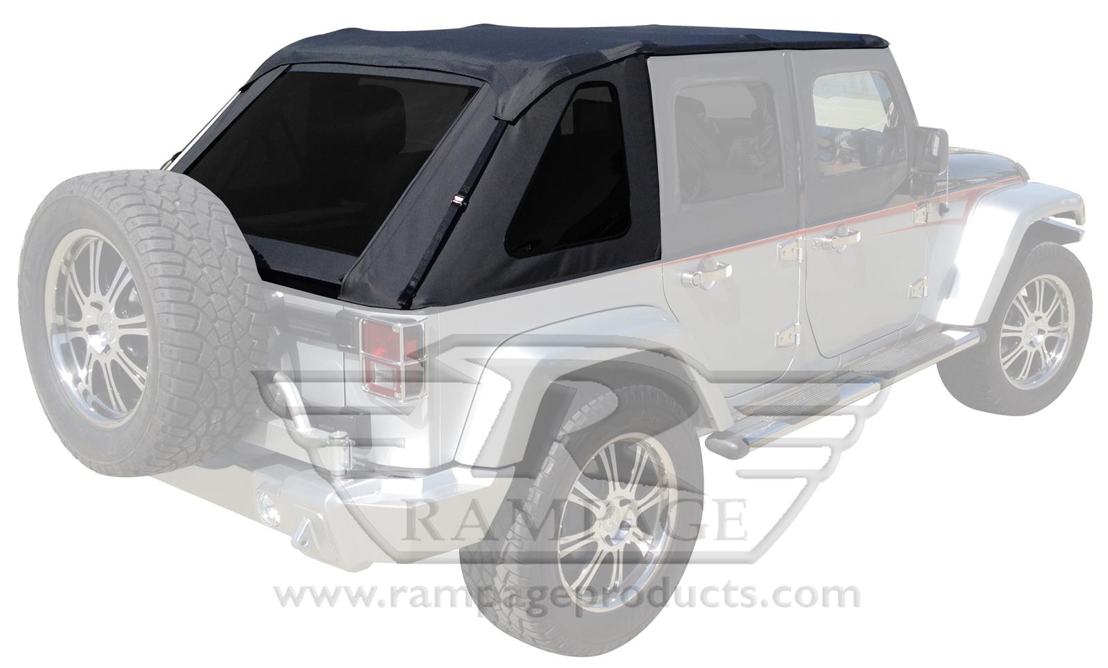 JEEP WRANGLER Rampage Trail Top Frameless Soft Tops 106035   Free Shipping  On Orders Over $99 At Summit Racing