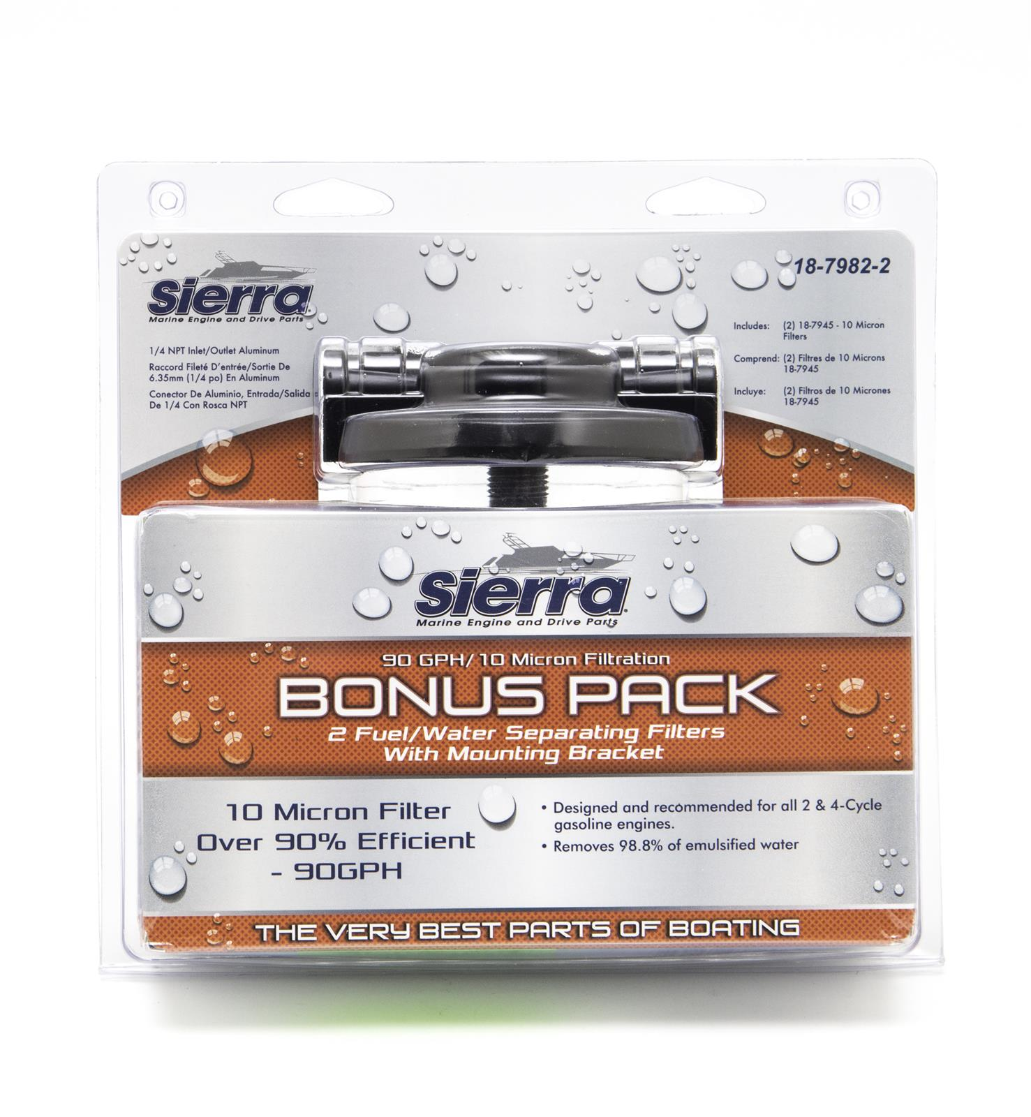 Sierra 18-7982-2 Marine Fuel Water Separator Filter