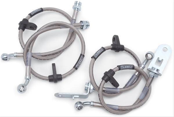 Pro Braking PBK0042-SIL-BLA Front//Rear Braided Brake Line Silver Hose /& Stainless Black Banjos