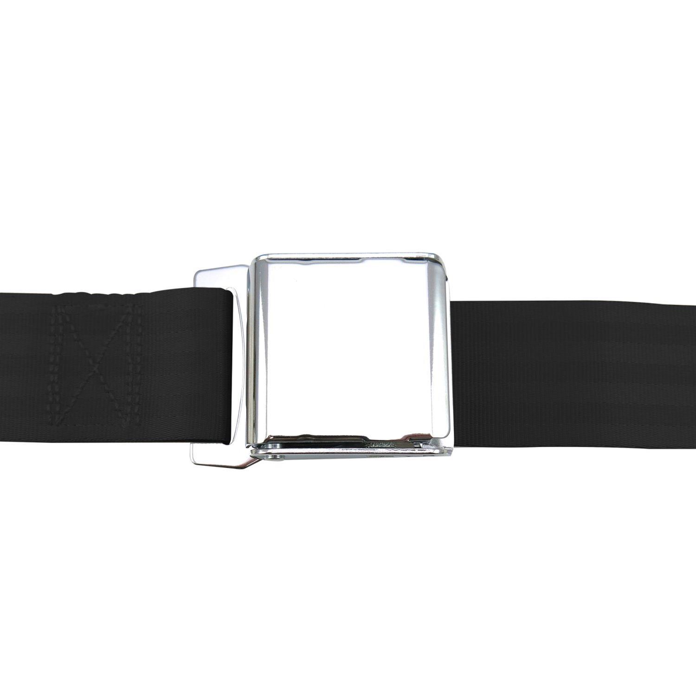 2pt Gray//Grey Retractable Seat Belt Standard buckle Each SafTboy STBSB2RSGR