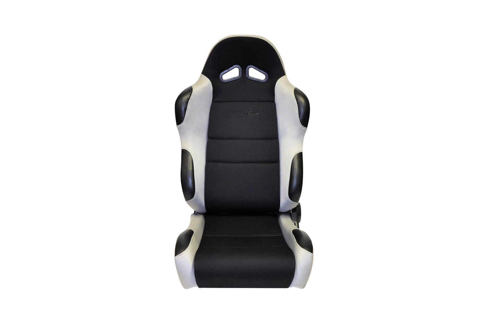 ProCar by Scat 80-1606-62L Sportsman Gray Velour Left Racing Seat