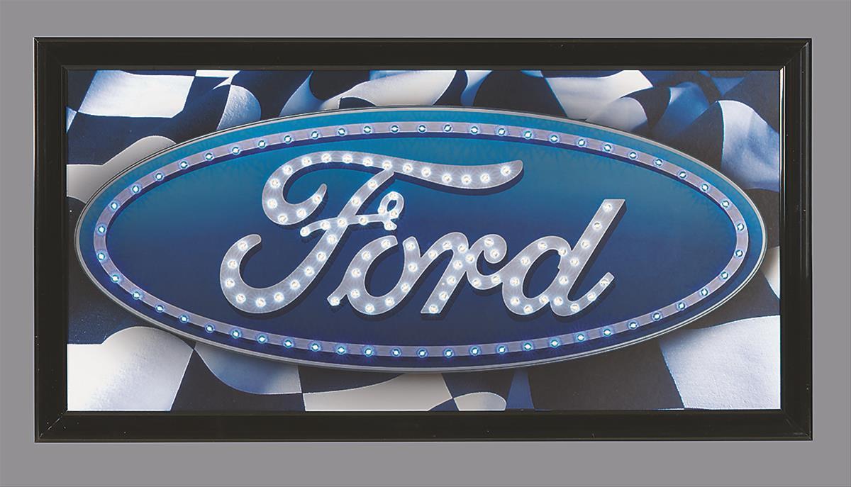 genuine hotrod hardware ford blue oval wall clock f5502. Black Bedroom Furniture Sets. Home Design Ideas