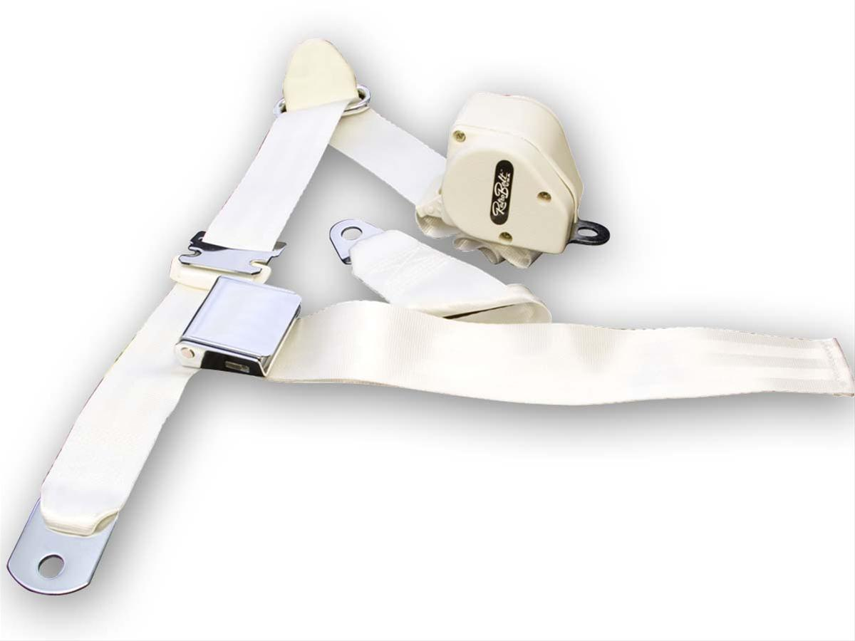 Scott Drake Retractable Three Point Seat Belts SB-3P-WT