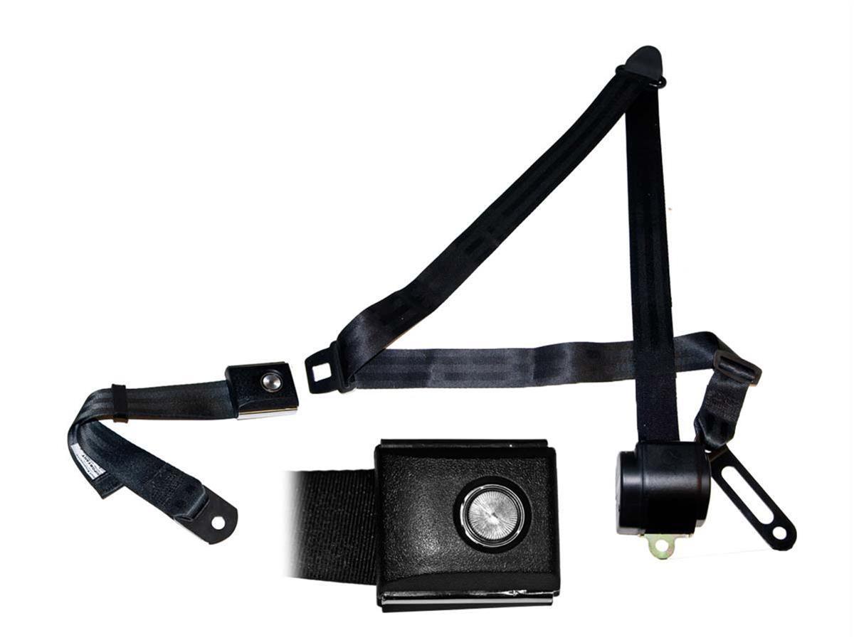 Scott Drake Retractable Three Point Seat Belts Sb 3p Bk Pbsb