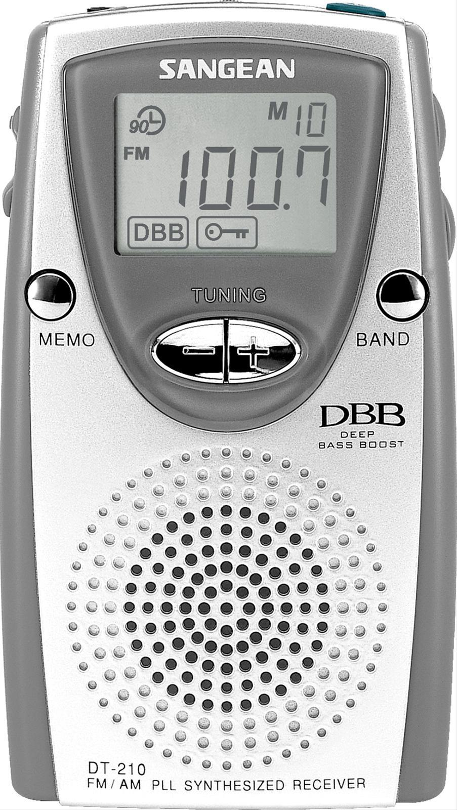 Sangean PLL Synthesized Digital stereo AM//FM Pocket Radio w// Belt Clip /& Earbuds