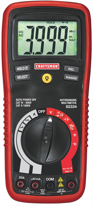 Summit Digital Meters : Craftsman autoranging digital multimeters free