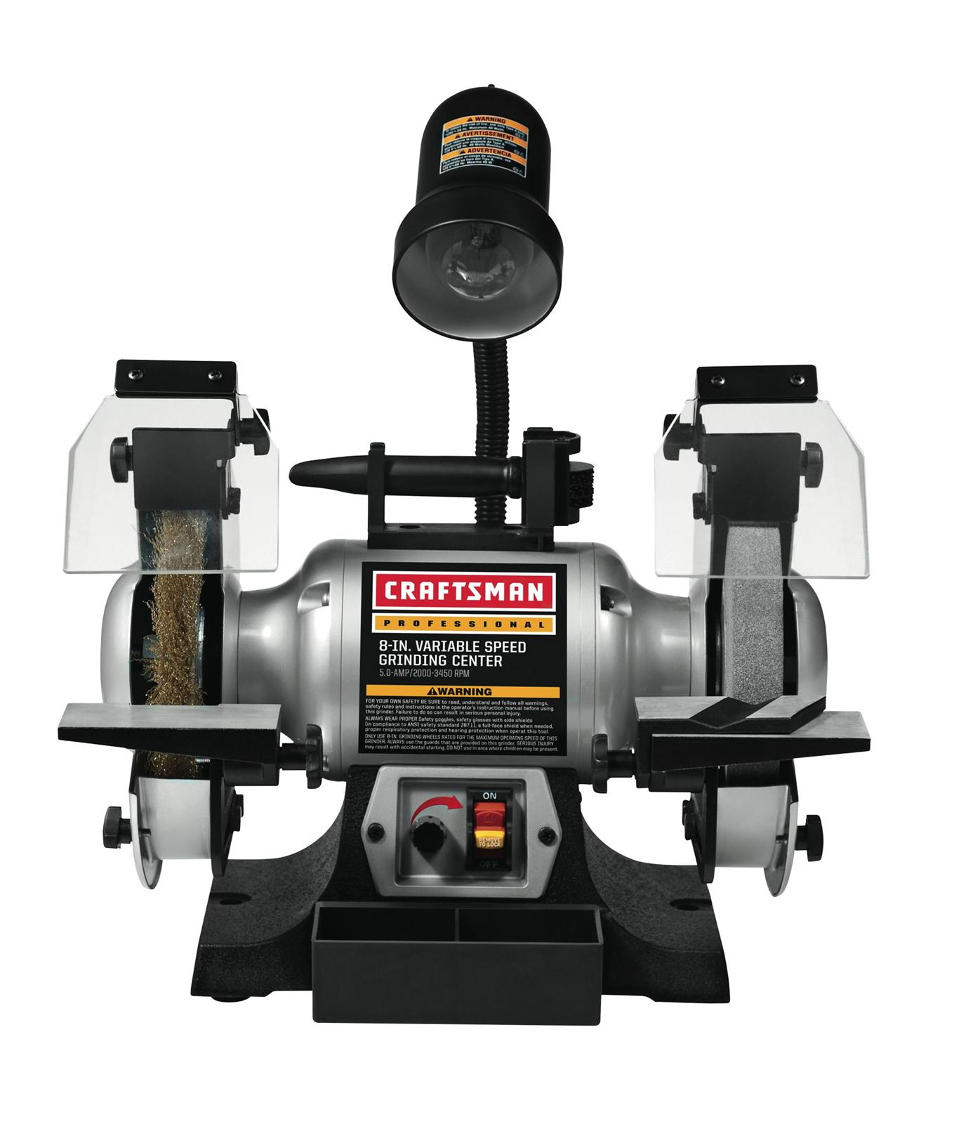 Craftsman 8 In Variable Speed Bench Grinders 009 21162 Free Shipping On Orders Over 99 At