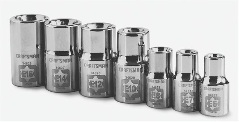 Craftsman Easy-to-Read External Torx Sockets 009-34570