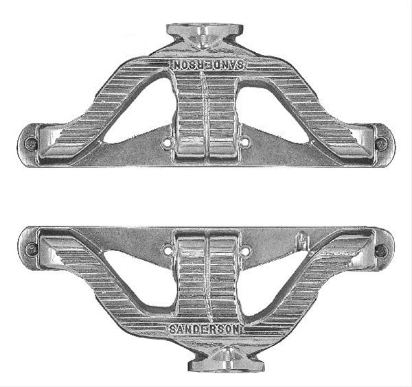 Sanderson Headers Headers Shorty Cast Iron Natural Chevy