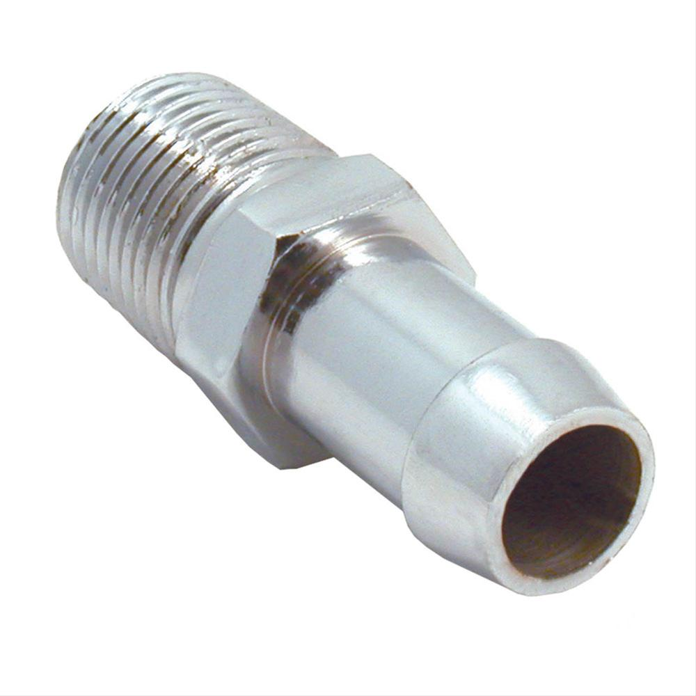 Spectre heater hose fitting steel chrome straight quot npt