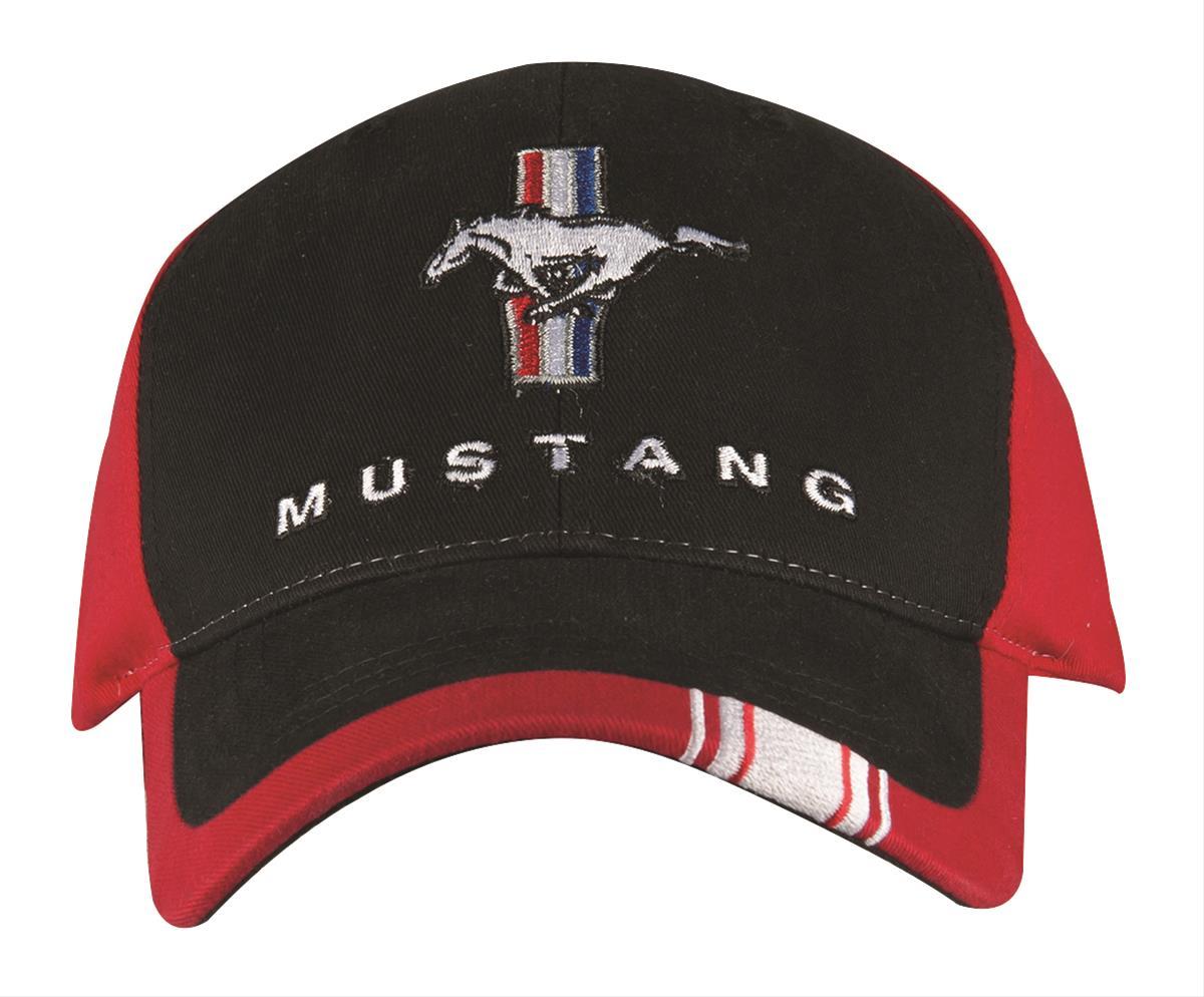 Embroidered Mustang baseball cap