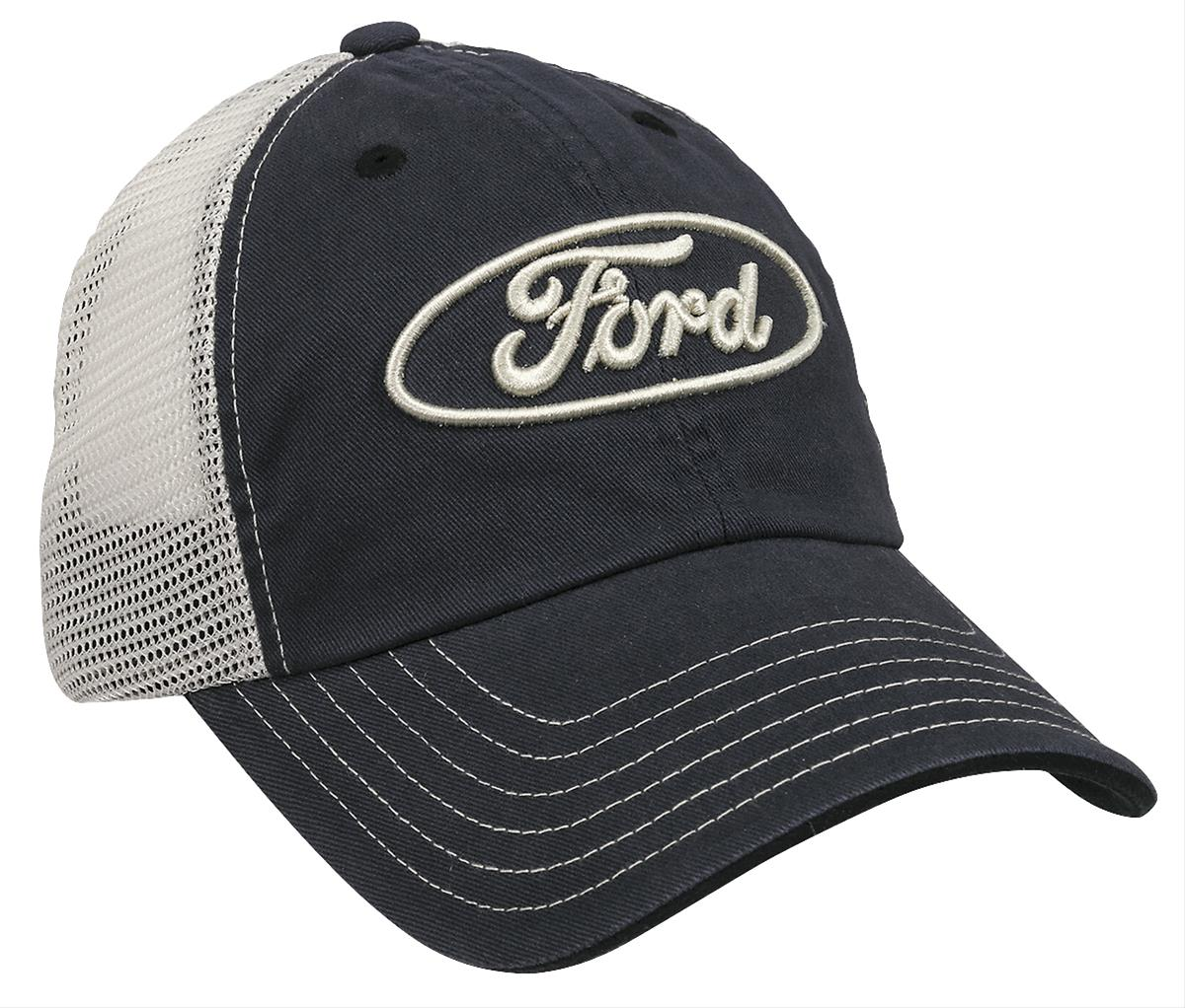 Ford Blue Oval Trucker Cap D7763 - Free Shipping on Orders Over  99 at  Summit Racing bd85a8c5dda