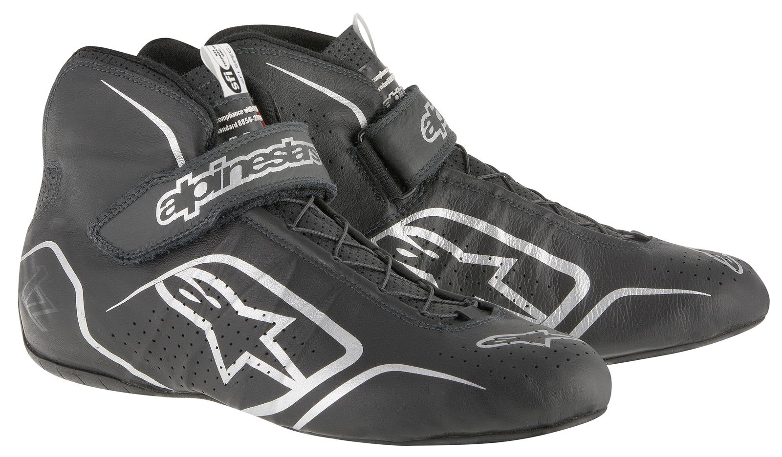 Alpinestars 2711518-12B-10.5 TECH 1-K START SHOES BLACK//WHITE PR SIZE 10.5