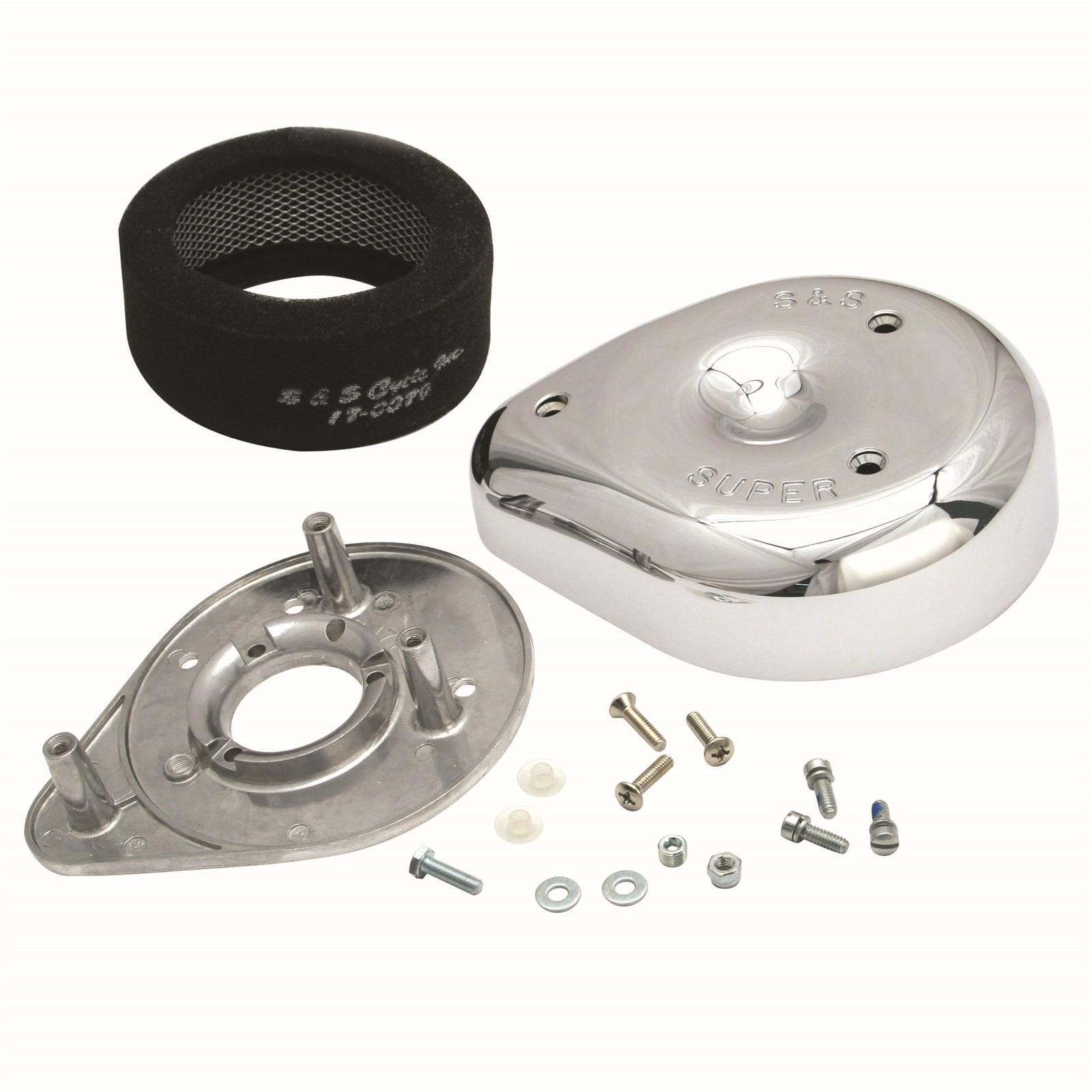 STOCK FUEL SYSTEM 17-0400 S AND S CYCLE AIR CLEANER KITS