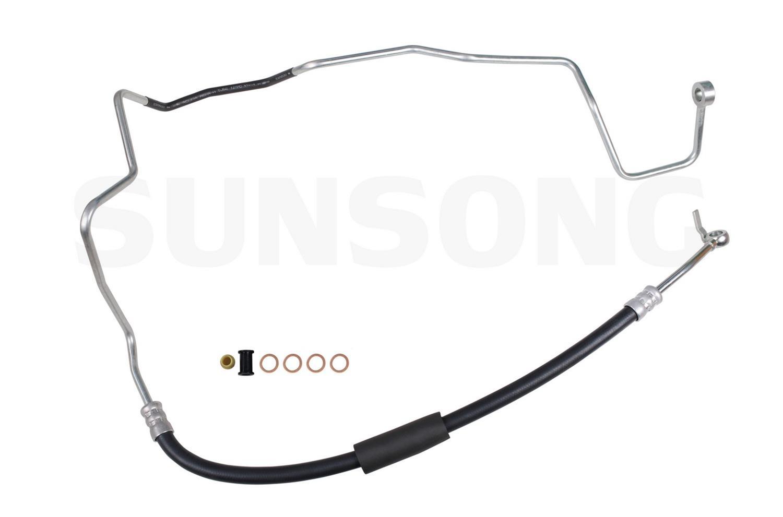 Sunsong 3401302 Power Steering Pressure Line Hose Assembly